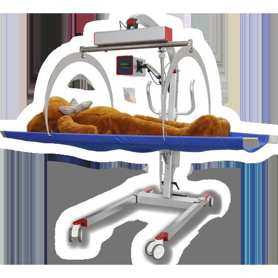 帮助重症患者平稳转运的设备,可用于短距离移位、称重、康复训练行走